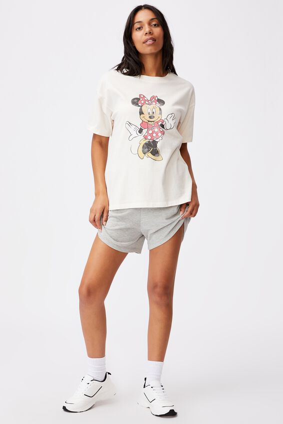 Original Cny Graphic License Tee, LCN DIS CLASSIC MINNIE/WHITE SAND