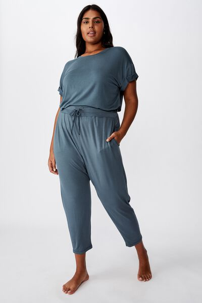 Curve Sleep Recovery Drop Crotch Pant, IRON