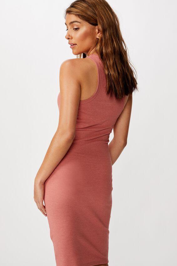 Kirsty Racerback Bodycon Midi Dress, CANYON ROSE MARLE