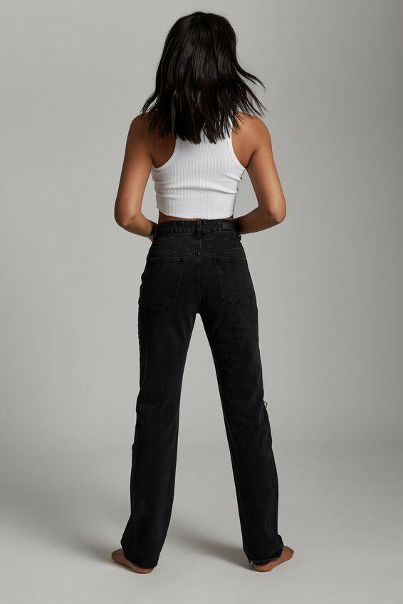 Long Straight Jean, MIDNIGHT BLACK RIP