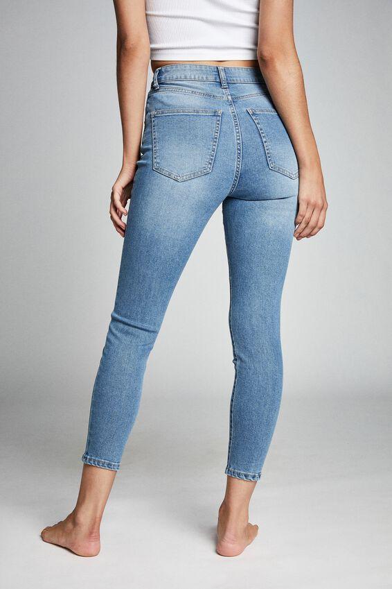High Rise Cropped Skinny Jean, VENICE BLUE