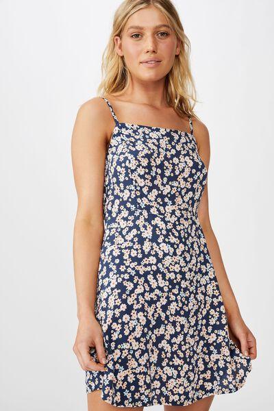 Woven Kendall Mini Dress, LILY DITSY MOOD INDIGO