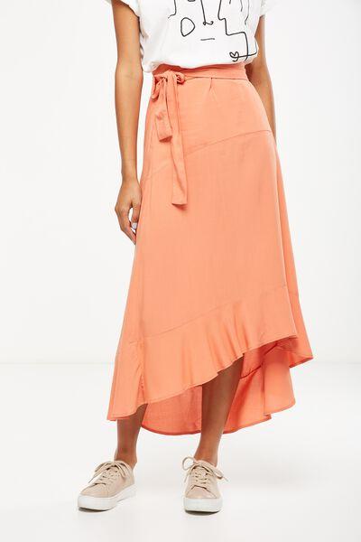 Woven Carlette Maxi Skirt, SUNBAKED