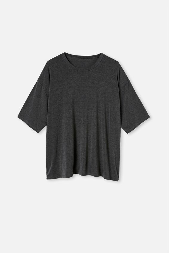 Curve Active Boyfriend Tee, CHARCOAL MARLE