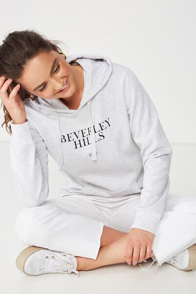 0e0dd853 Delevingne Graphic Hoodie, BEVERLEY HILLS USA/SILVER MARLE