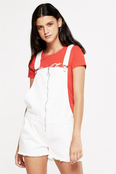The Classic Overall, WHITE ZIP FRONT