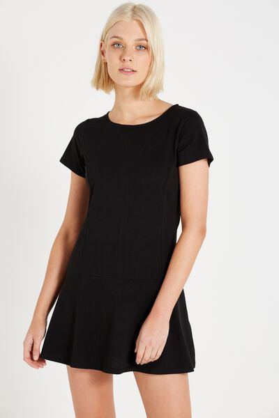 Suki Fit And Flare Dress, BLACK