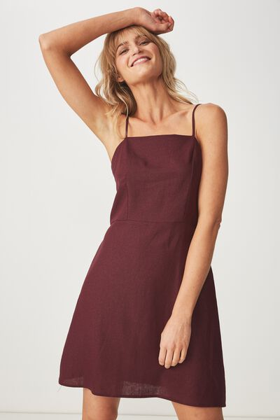 Woven Krissy Dress, WINETASTING - L