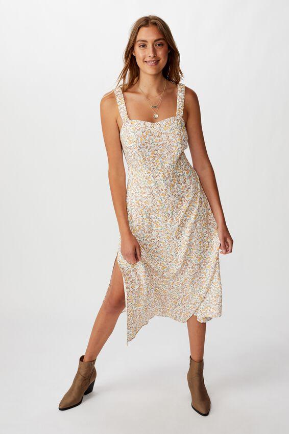 Woven Melanie Midi Slip Dress, BOBBY FLORAL PAISLEY GLAZED GINGER