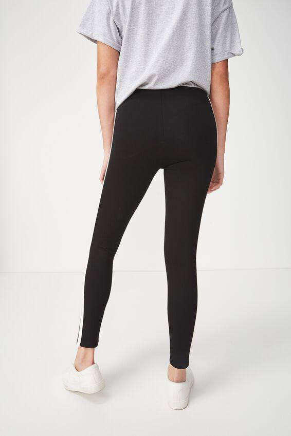 Dantea Legging, BLACK/WHITE STRIPE