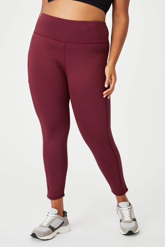 Curve High Rise Fleece Lined Tights, MULBERRY