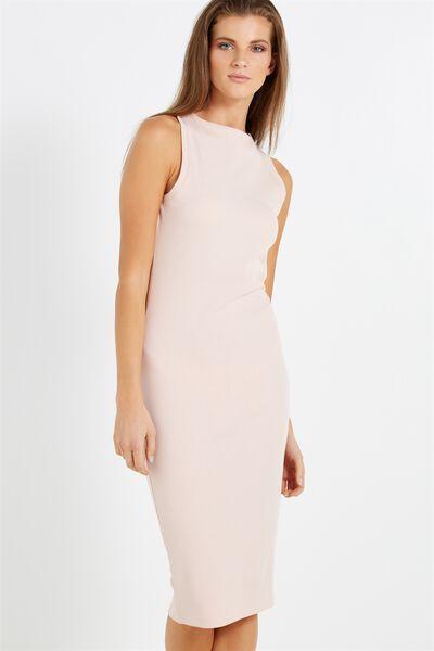 Lola Midi Dress, NUDE PINK