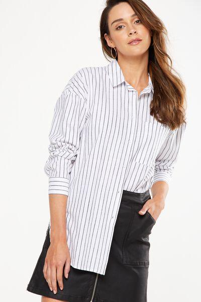 Monique Shirt, CLEO STRIPE BLACK