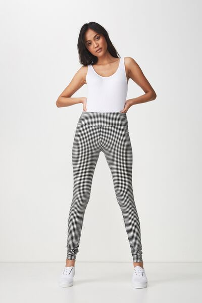Dakota Detail Legging, VERONICA CHECK BLACK/WHITE
