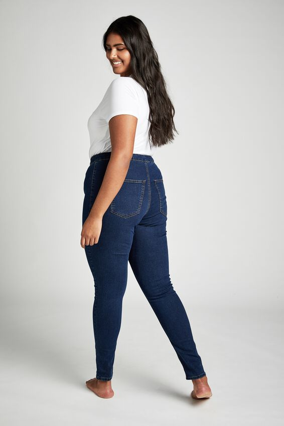 Curve Ashley High Rise Full Jegging, MID BLUE