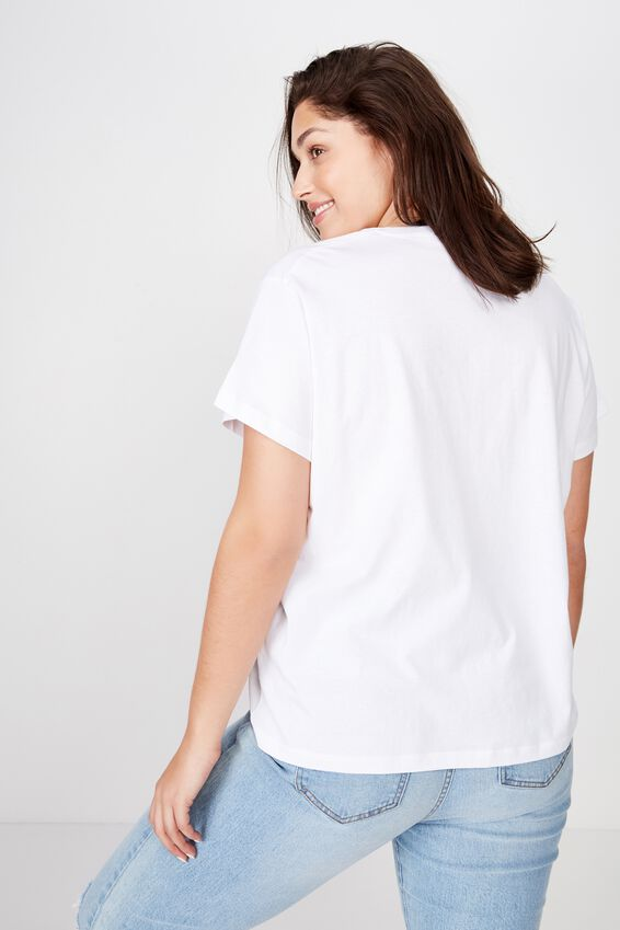 Curve Graphic License Tee, LCN GM MARIAH CAREY MRS CLAUSE WHITE