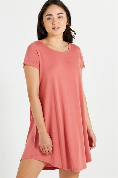 Tina Tshirt Dress 2, WILD ROSE
