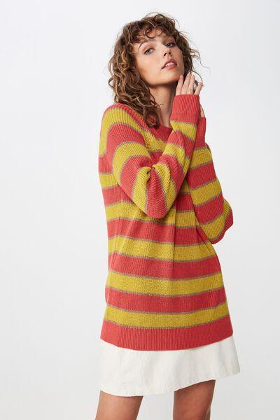 Archy 5 Pullover, GARNET ROSE MULTI STRIPE