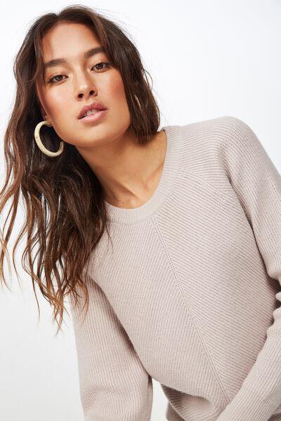 Rosie Rib Raglan Pullover, GARGOYLE