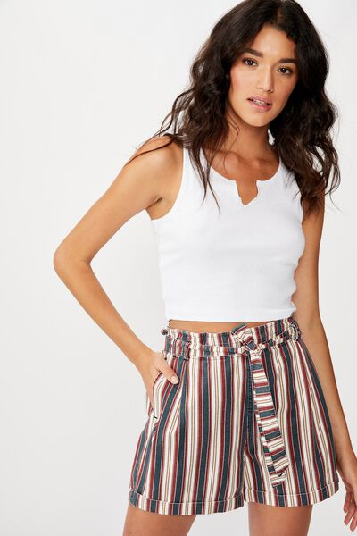 Riley High Waist Short, MOLLY STRIPE TOTAL ECLIPSE