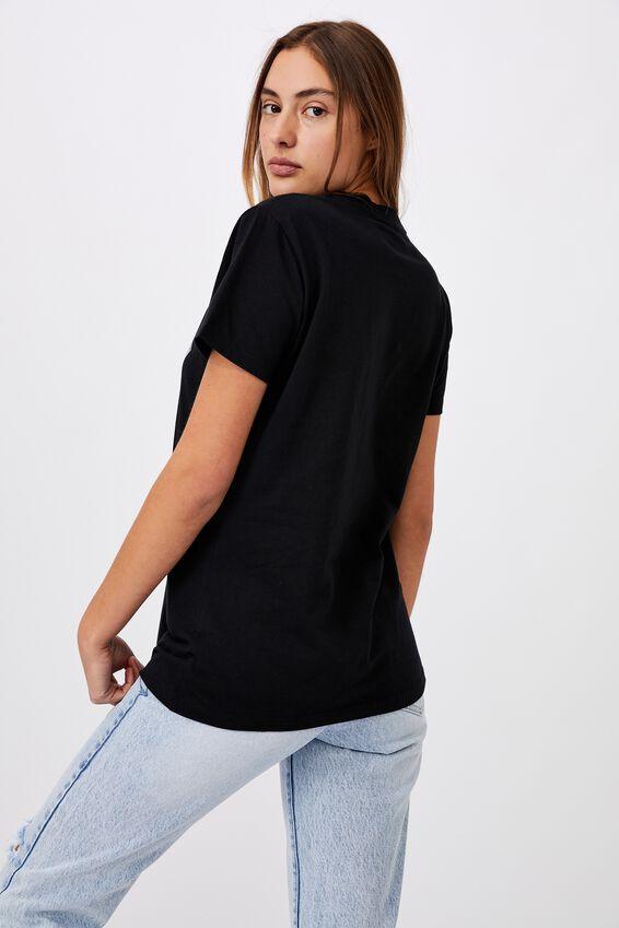 Classic Acdc Back In Black T Shirt, LCN PER ACDC BACK IN BLACK/BLACK