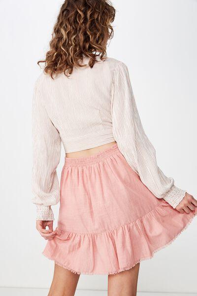Woven Jordana Mini Skirt, ROSE TAN