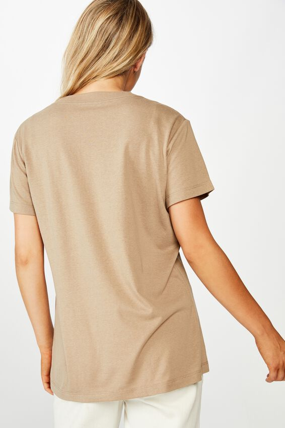 Classic Slogan T Shirt, LOVE AND MAGIC/DESERT TAUPE