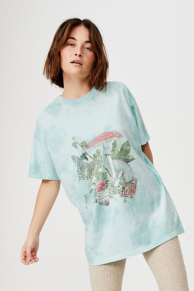 The Relaxed Boyfriend Graphic Tee, BOTANICAL MUSHROOMS/TIE DYE