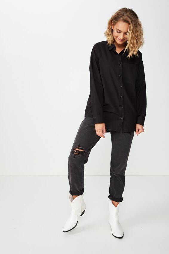 Casual Hudson Shirt, BLACK
