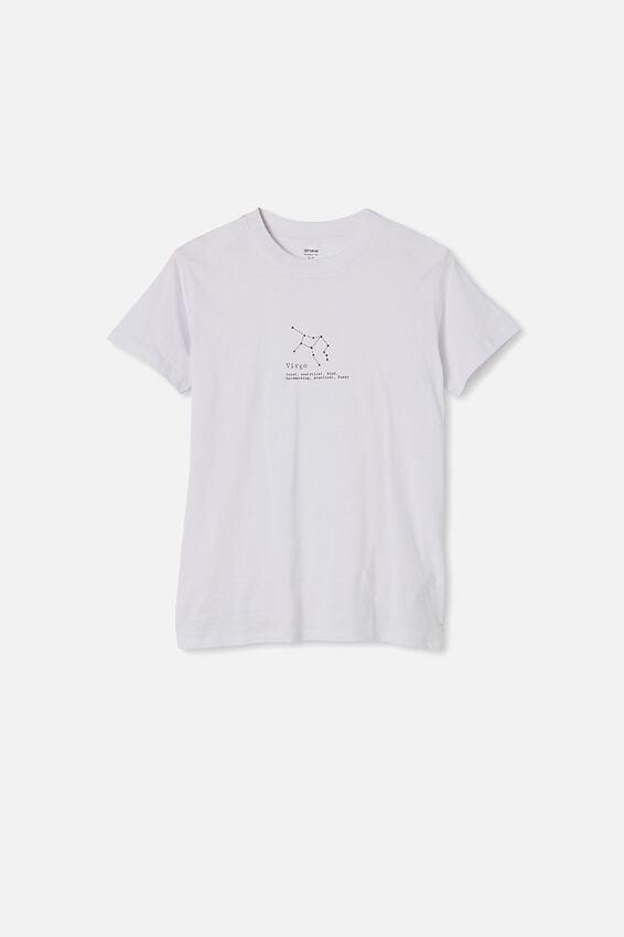Classic Astrology T Shirt, VIRGO/WHITE