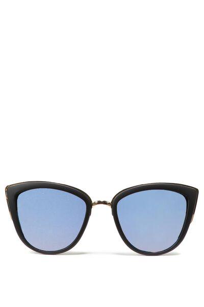 Gigi Cat Eye Sunnies, BLACK/LIGHT BLUE