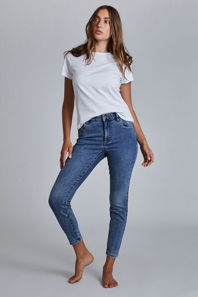 Mid Rise Cropped Skinny Jean, LUCKY BLUE