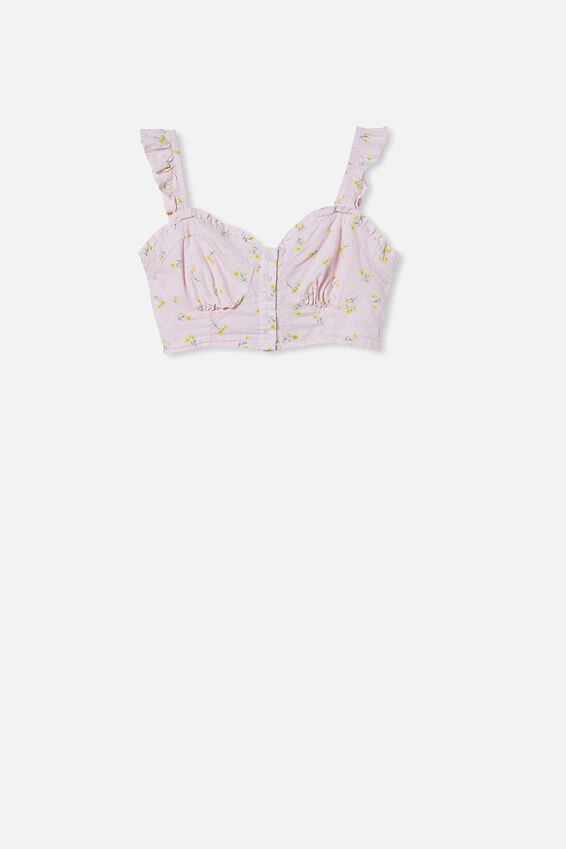Sweetheart Frill Sleeve Blouse, ELLIE DITSY COOL PINK