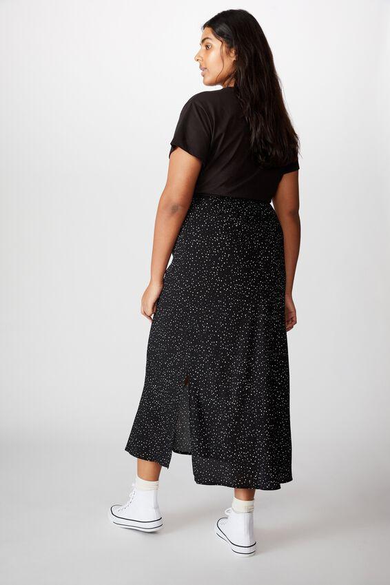 Curve 90S Slip Skirt, KAT SPOT BLACK