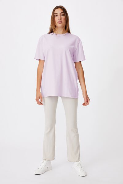 The Oversized Dad Tee, WASHED POWDER LILAC