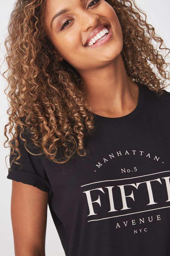 Tbar Fox Graphic T Shirt, FIFTH AVENUE/BLACK