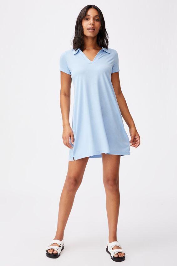 Tina Polo Tshirt Dress, AUTHENTIC BLUE