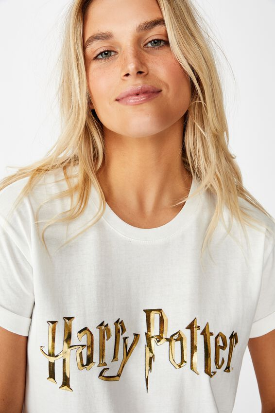 Classic Tv Movie T Shirt, LCN WB HARRY POTTER LOGO/GARDENIA