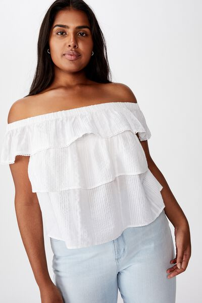 Curve Sunshine Off The Shoulder Top, WHITE