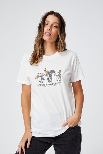 Classic Arts T Shirt, MUSHROOM FOREST/GARDENIA