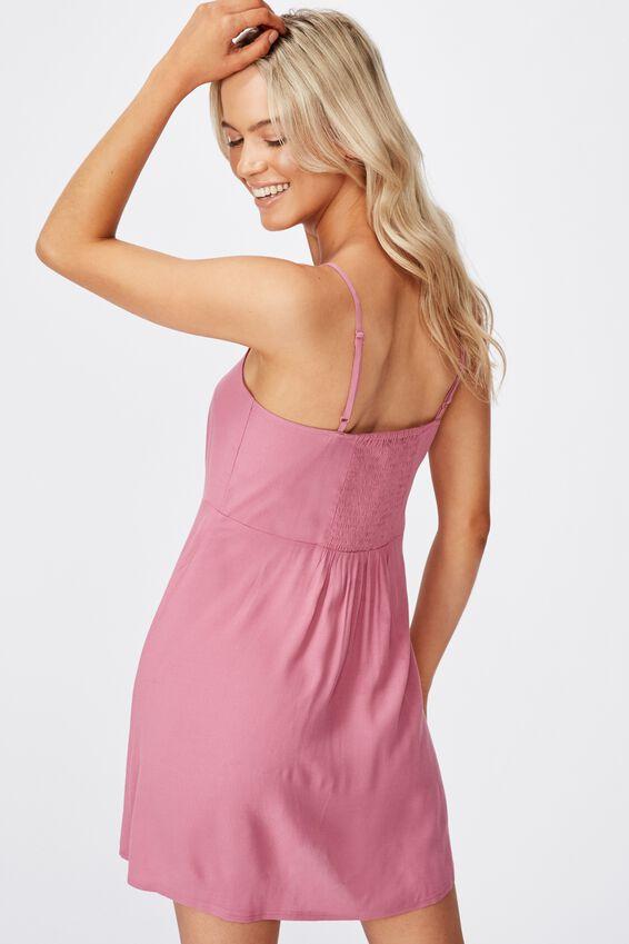 Woven Kendall Mini Dress, SUMMER CASSIS