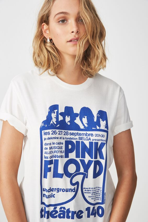 Tbar Fox Graphic T Shirt, LCN PINK FLOYD THEATER 140/GARDENIA