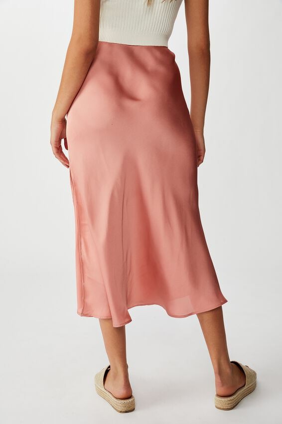 Belle Split Midi Skirt, ROSE TAN