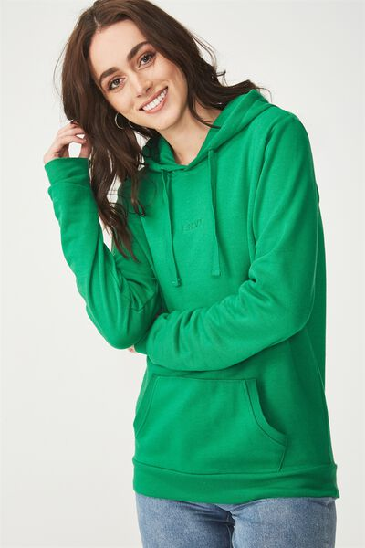 Delevingne Graphic Hoodie, GREEN WITH ENVY/GULLY GREEN
