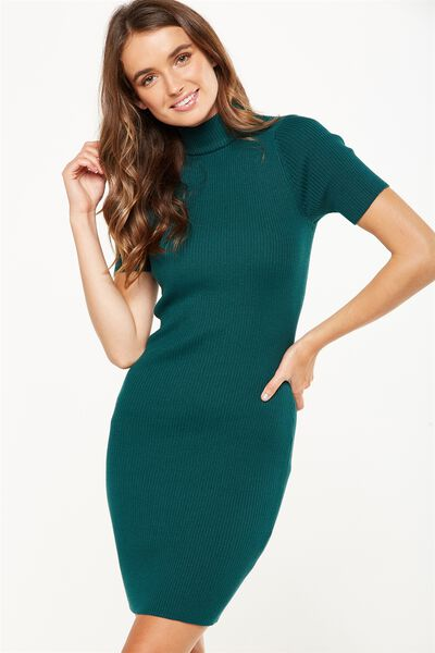 Avon Bodycon Mini Dress, BOTANICAL GREEN