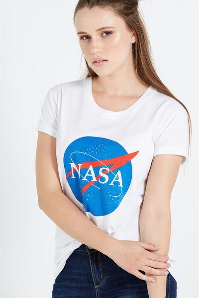 Tbar Fox Graphic T Shirt, LCN NASA PERSONAL SPACE/WHITE
