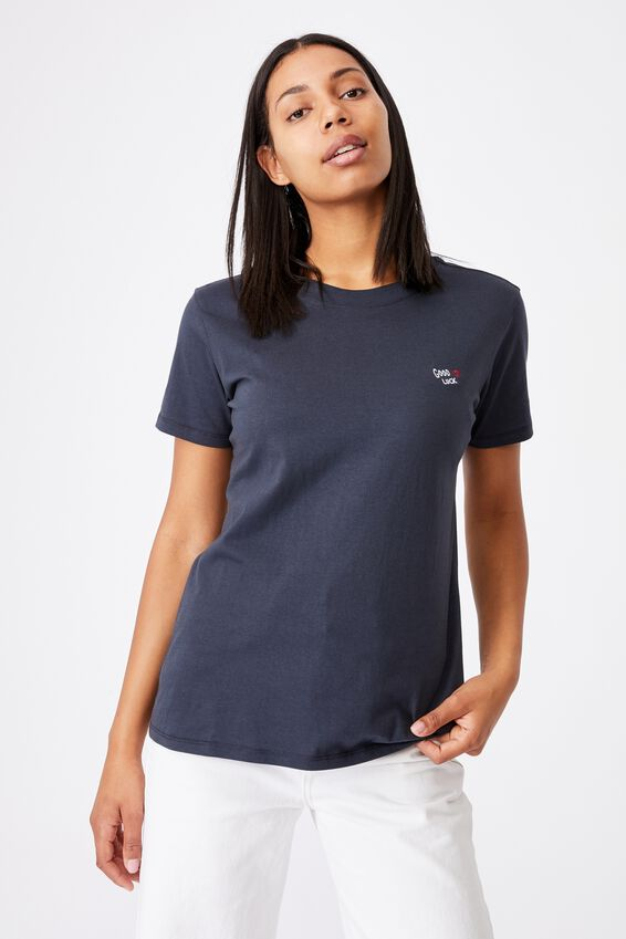 Classic Cny Graphic T Shirt, GOOD LUCK/MOONLIGHT