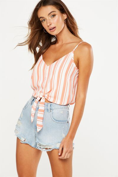 Rosa Fashion Cami, CHLOE STRIPE EMBERGLOW