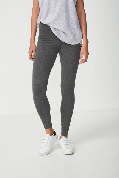 Dylan Long Leggings, CHARCOAL MARLE