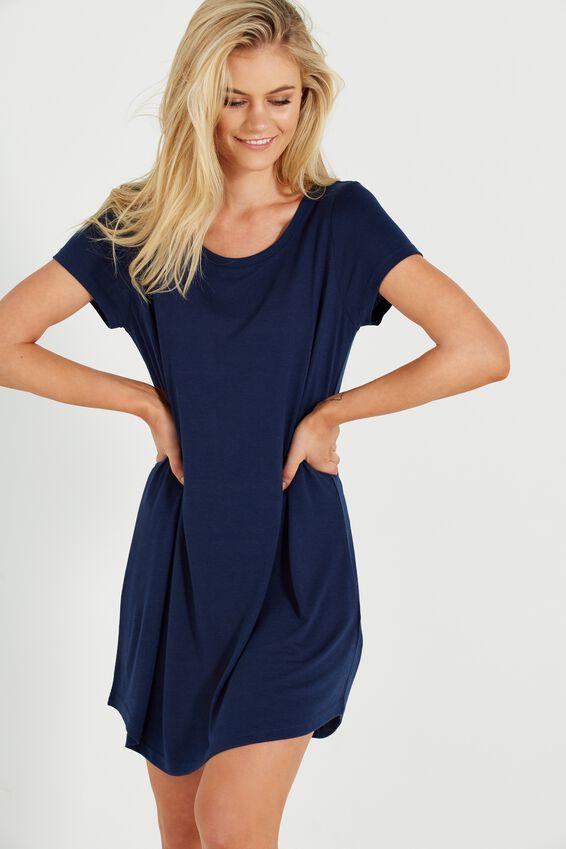 Tina Tshirt Dress 2, SPACE NAVY